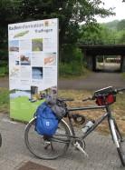 Hinweistafeln für Radfahrer